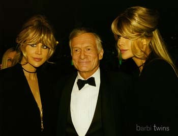 Barbi Twins with Hugh Hefner